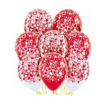 "Sempertex 12"" Fashion Solid White & Red - AO Double Hearts"