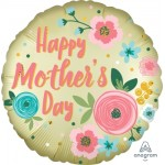 "40847 Happy Mothers Day Satin Infused Pastel Yellow (18"")"