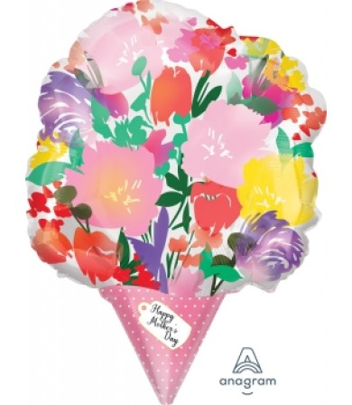 """40868 Happy Mothers Day Watercolor Bouquet (18"""")"""