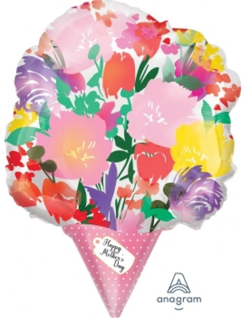 "40868 Happy Mothers Day Watercolor Bouquet (18"")"