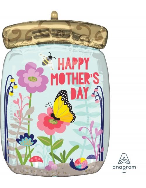 """40840 Happy Mothers Day Mason Jar (18"""")"""