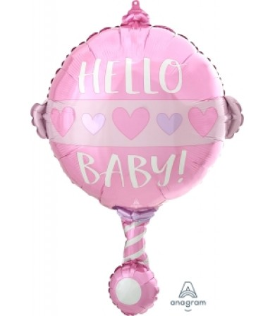 """41560 Baby Girl Rattle (24"""")"""