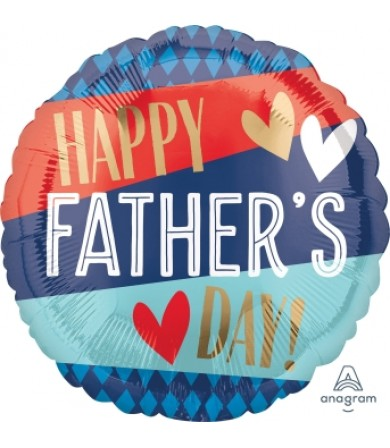 "40951 Happy Father Day Stripes & Argyle (18"")"
