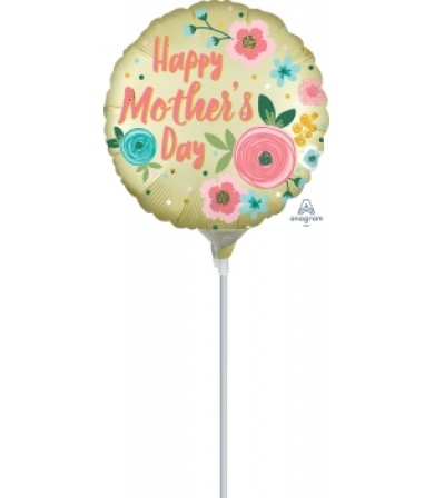 "40866 Happy Mothers Day Satin Infused Pastel Yellow (9"")"