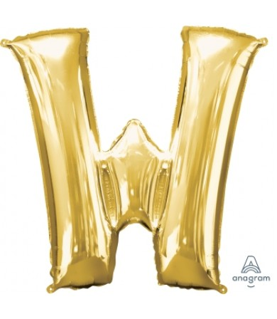 32994 - Letter W - Gold (34')