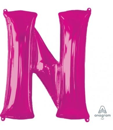 """35428 - Letter N - Pink (34"""")"""