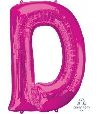 """35408 - letter D - Pink (34"""")"""