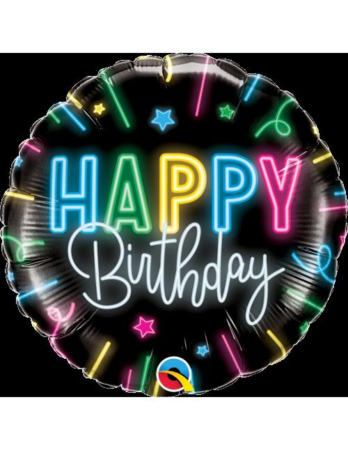 """12276 - Happy Birthday Neon Glow  (18"""")"""
