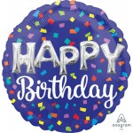 """41795 Happy Birthday Day Balloon Letters (18"""")"""