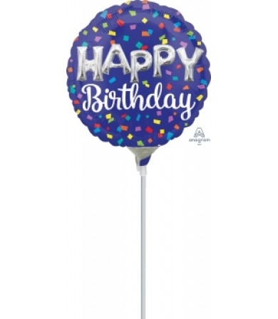 "41797 Happy Birthday Day Balloon Letters (9"")"