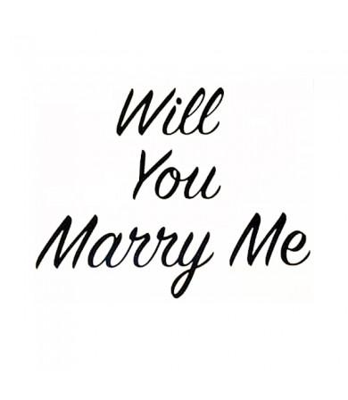 Sticker - Will You Marry Me ( Big ) - 1pc