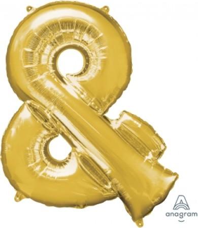 "33006 Symbol "" & "" Gold (34"")"
