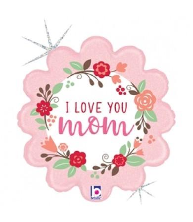 36936P Fresh Floral I Love You Mom (18')
