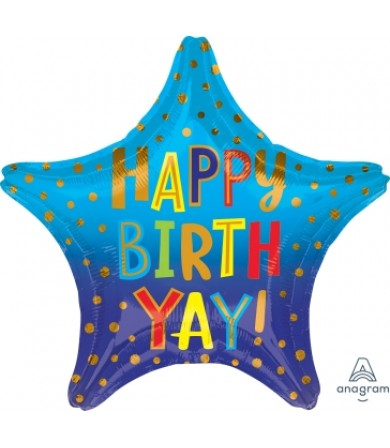 "41312 Happy Birth YAY (19"")"