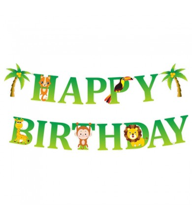Letter Banner - Happy Birthday Jungle Animal