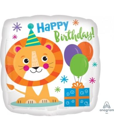 """41295 Happy Lion Birthday (18"""")"""