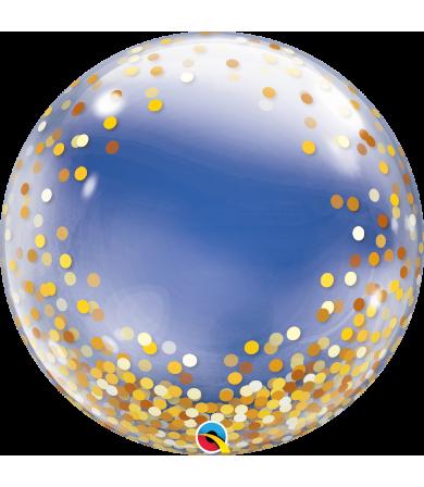 """89727 -  Gold Confetti Dots [Bubbles Balloon] (24"""")"""