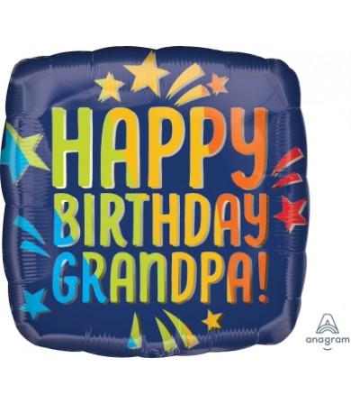 "41303 Happy Birthday Grandpa Blue Rainbow (18"")"