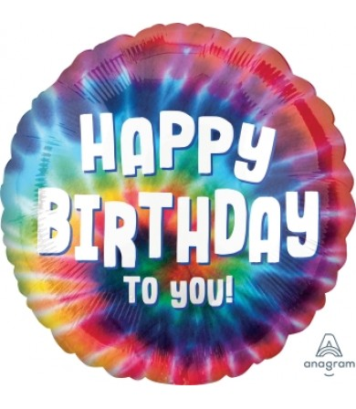 "41793 Tie Dye Birthday (18"")"