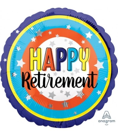 "41192 Happy Retirement Colorful Circles (18"")"