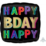 "41741 Happy Birthday Offset Letters (18"")"