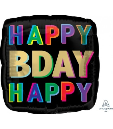 """41741 Happy Birthday Offset Letters (18"""")"""