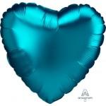 "41883 Satin Luxe® Aqua Heart (18"")"