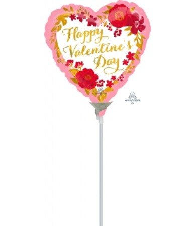 "42295 Happy Valentine Day Floral Wreath (4"")"