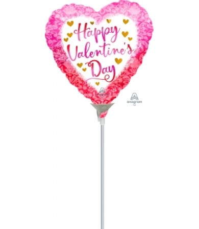 """42303 Happy Valentine Day  Watercolor Damask (4"""")"""