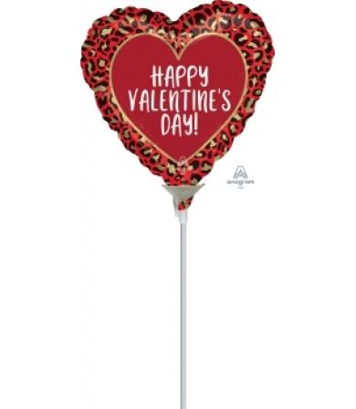"42301 Happy Valentine Day  Animal Print (4"")"