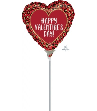 "42300 Happy Valentine Day Animal Print  (9"")"