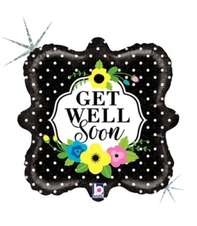 "36708P Floral Get Well Soon (18"")"