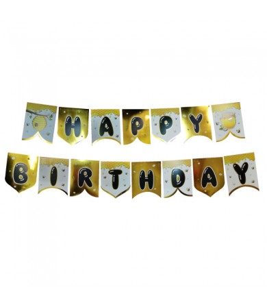 Party Flag - Happy Birthday Bee