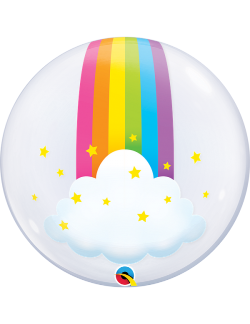 "13036 Rainbow Clouds [Bubbles Balloon] (24"")"