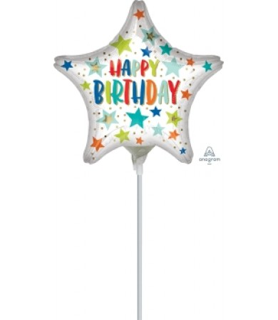"41739 Happy Birthday Day Stars and Dots (4"")"