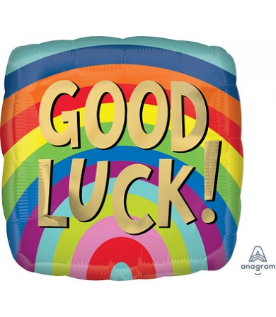 "41150 Good Luck Rainbow Stripes (18"")"