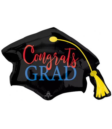 42839 Congrats Grad Red & Blue - SuperShape