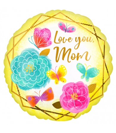 "42728 Love You Mom Gold Trim (18"")"