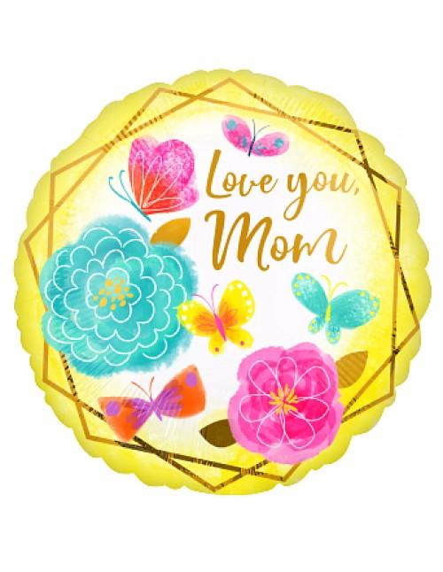 """42728 Love You Mom Gold Trim (18"""")"""