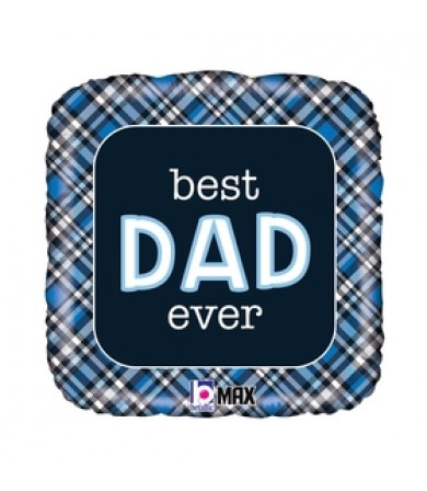 26098P - Best Dad Ever Plaid (18')