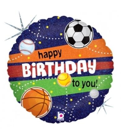 "36979P  - Sports Birthday (18"")"