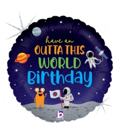 "36969P  - Outta This World Birthday (18"")"