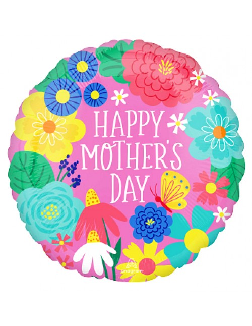 """42730 Pretty Flowers in Pink Mother's Day (18"""")"""