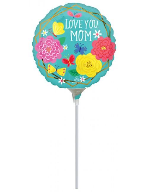 """42747 Mom Pretty Flowers & Butterflies (9"""")"""