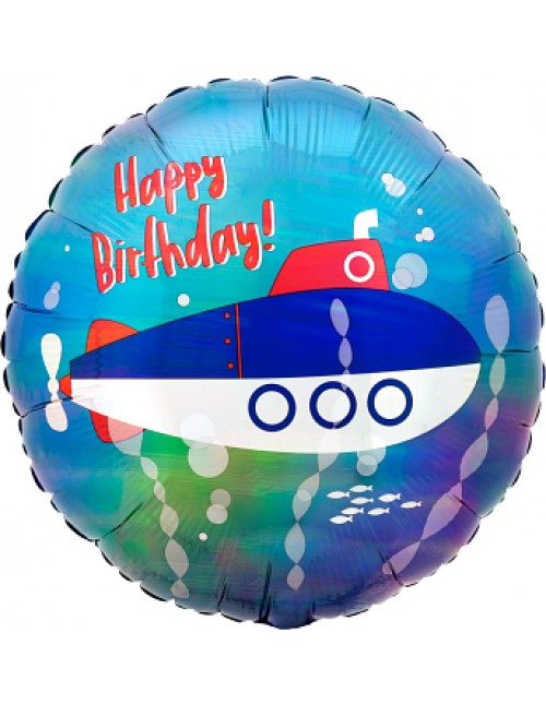 """41801 Iridescent Submarine Birthday (18"""")"""