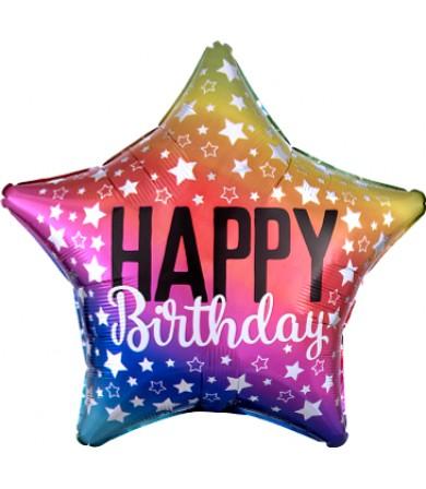 """35228 Rainbow Star Birthday (18"""")"""