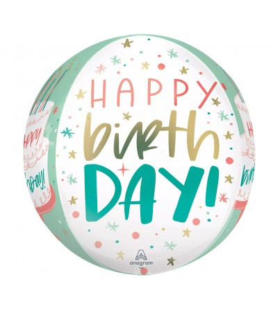 "42654 Happy Cake Day Orbz™  (16"")"