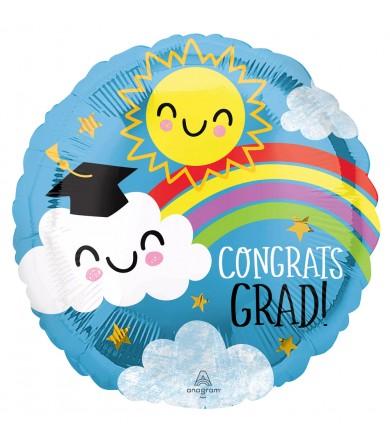 """42768 Congrats Grad Rainbow (18"""")"""