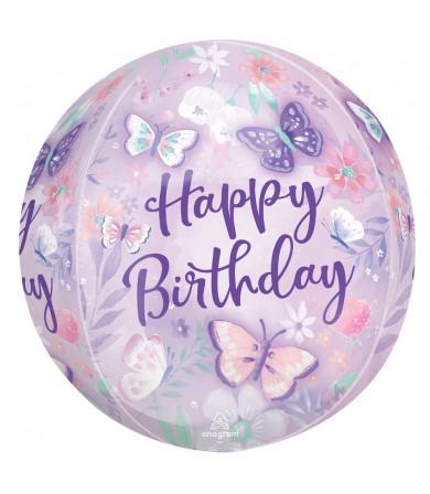 "42884 Flutters Happy Birthday ORBZ™  (16"")"
