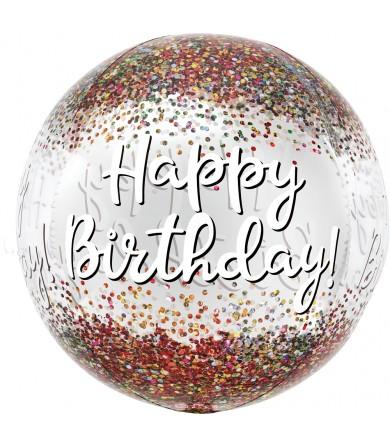 """41812 Happy Birthday Sequins Orbz™ (16"""")"""